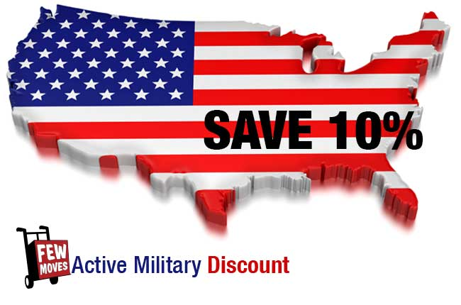 Few Moves Announces 10% Military Discount
